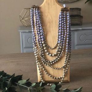 Vintage Noonday Tushabe Necklace-Lilac